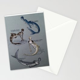 Science Mermaids: Sharks Stationery Cards