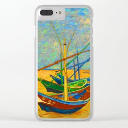 Fishing Boats Clear iPhone Case