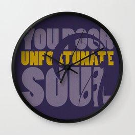 Unfortunate soul Wall Clock