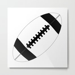 American Football In Black And White Metal Print