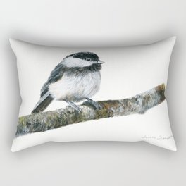 Black-capped Chickadee by Teresa Thompson Rectangular Pillow