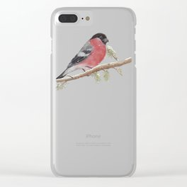 Bullfinch and Gnome-girl - Christmas Clear iPhone Case