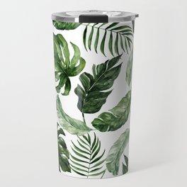 Tropical Leaf Travel Mug