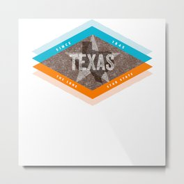 Vintage Mid Century Modern Texas Metal Print