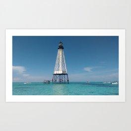 Isolated Lighthouse Art Print