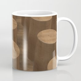 Wood with cylinders Coffee Mug