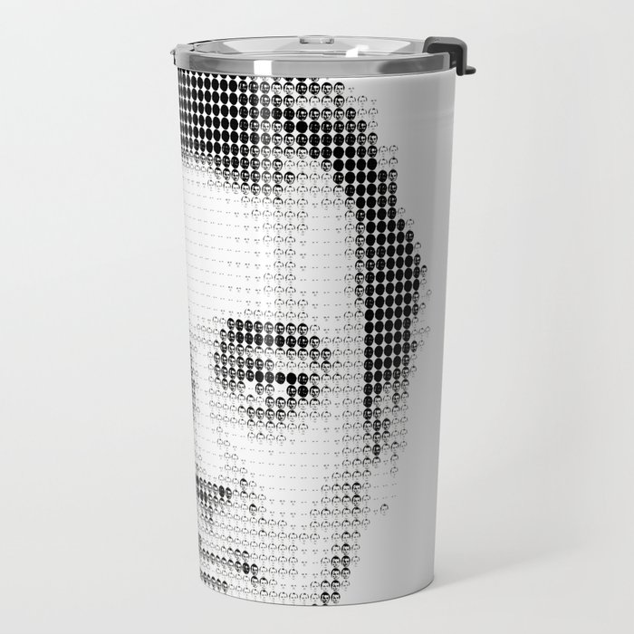 Bill Murray Groundhog Day Meta Portrait  Travel Mug