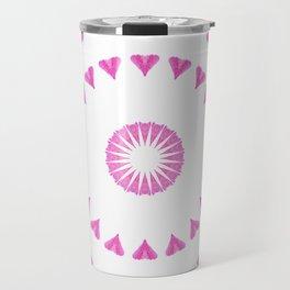 PINK HEART MANDALA Travel Mug