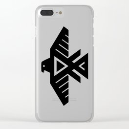 Thunderbird flag - High Quality image Clear iPhone Case