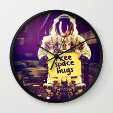 Space hugs Wall Clock