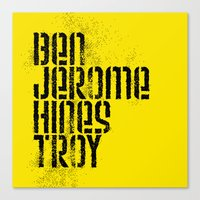 steelers Canvas Prints featuring Ben Jerome Hines Troy / Gold by Brian Walker