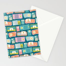 Retro Radios Stationery Cards