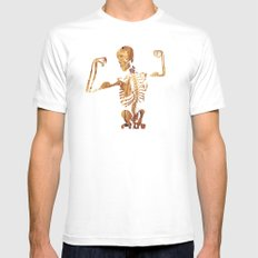 The muscular skeleton MEDIUM White Mens Fitted Tee