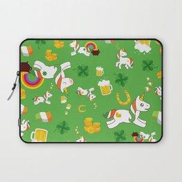 St. Patrick's Day Unicorn Pattern Laptop Sleeve