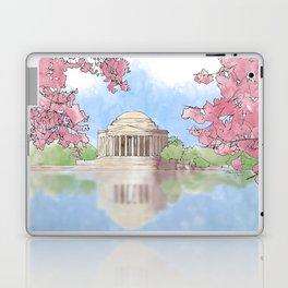 Cherry Blossom - Jefferson Memorial Laptop & iPad Skin