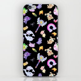 Star vs the Forces of Evil Pattern ( black ) iPhone Skin