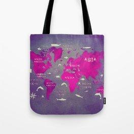 world map 46 Tote Bag