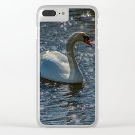moving swan Clear iPhone Case