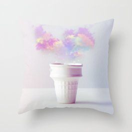 Forecast in a Cup Throw Pillow