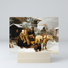 Bengt Nordenberg Leaving Home (Dalecarlian Scene) Mini Art Print
