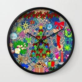 Grandma & Pap Forever Christmas Wall Clock