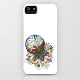 Marine Bubble Mandala iPhone Case