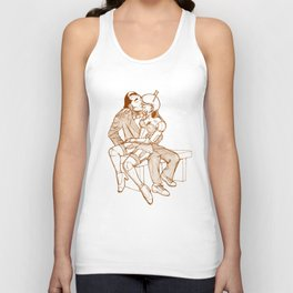 Lazing on a Sunday Afternoon Unisex Tank Top