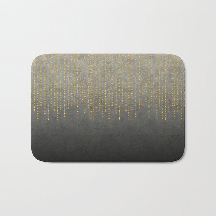 Dark Glamour golden faux glitter Bath Mat