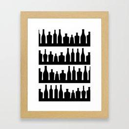 Classic Bottles Framed Art Print
