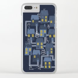 Houses and Christmas Clear iPhone Case