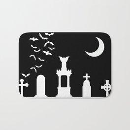 The Graveyard By Moonlight Bath Mat