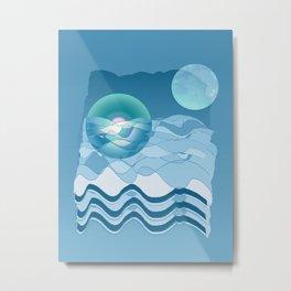 Sea Symphony in BLUE Metal Print