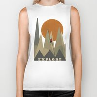 explore Biker Tanks featuring Explore by bri.buckley