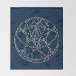 As Above, So Below Mandala Throw Blanket