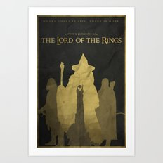 Shadows Shall Spring - The Lord of the Rings Poster Art Print
