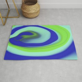 Green blue abstract pattern Rug