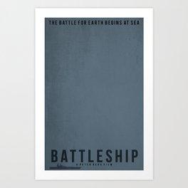 Minimalist Battleship Art Print