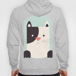 Cartoon Abstract Cat Hoody