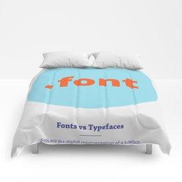 Fonts vs Typefaces Comforters