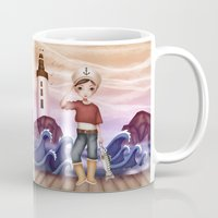 sailor Mugs featuring Sailor by Zazie-bulles