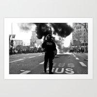 police Art Prints featuring Police by Antonio J. Galante Photographer
