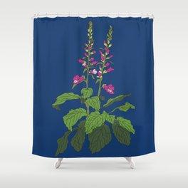 Foxglove Flower Garden Illustration Shower Curtain
