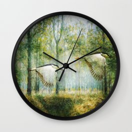 Magical Forests Impressionism Wall Clock