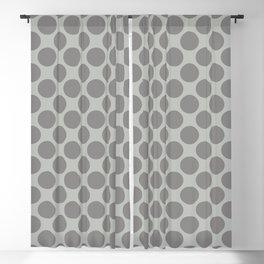 Benjamin Moore Cinder Dark Gray AF-705 Uniform Large Sized Polka Dots on Metropolitan COY 2019 Blackout Curtain
