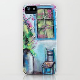 Anapa. Seaside town in bloom. Hot summer day. Pastel drawing iPhone Case