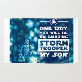 Quote - One day you will be an amazing stormtrooper Rug