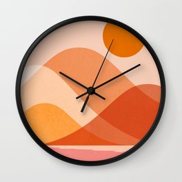 Abstraction_Mountains_Beach_Minimalism_001 Wall Clock