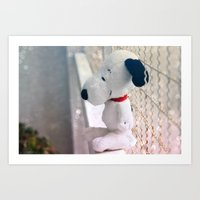 snoopy Art Prints featuring Snoopy by UliD