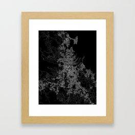 Brisbane map Australia Framed Art Print