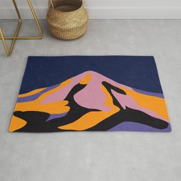 Over The Sunset Mountains II Rug